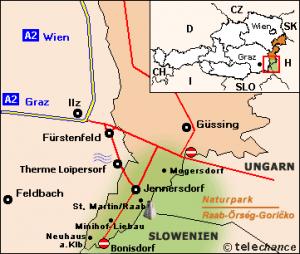 Karte Naturpark Raab