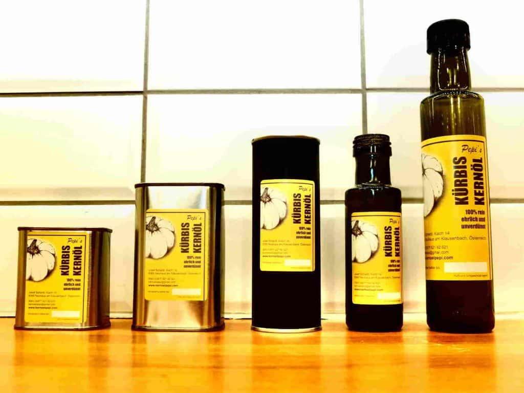 Kernöl Pepi's Produkte und Preise