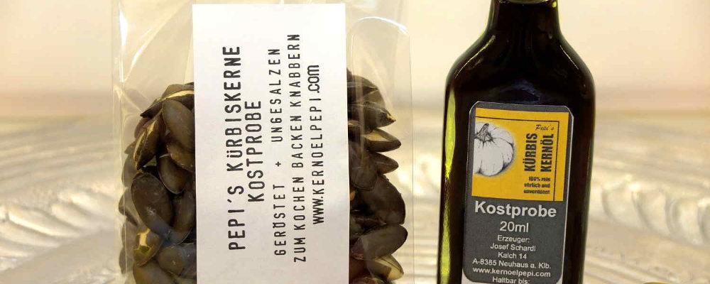 Pepi´s Kürbiskernöl Kostproben Set vom steirischen Ölkürbis